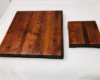 Beautiful 2 piece Mesquite Extra Thick handcrafted cutting board and cheeseboard set 1903112