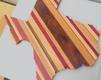 1State of Texas Wall Decor Stripe with a variety of Exotic Hardwoods 2002151