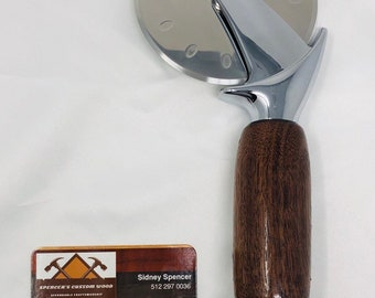 Wow! Custom made Walnut handle and stainless steel Pizza Cutter 199237