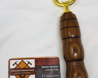 Beautiful custom made Walnut bottle opener with Gold Plated fitting 199244