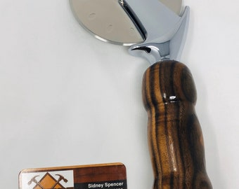 Show stopping custom made Rosewood handle and stainless steel Pizza Cutter 191033