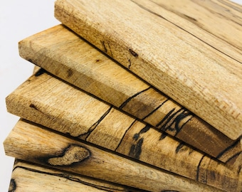 Beautifully Rustic 5 piece coaster set made from Spalted Pecan 1904056