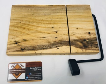 Rustic One Of A Kind Handcrafted Face-Grain Hackberry Cheeseboard 191026