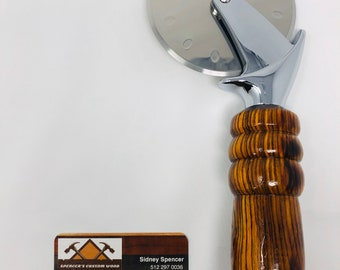 Stunning Custom made Cocobolo handle and stainless steel Pizza Cutter 191036
