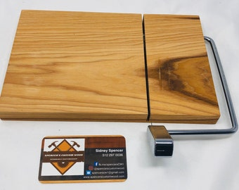Lovely One Of A Kind Handcrafted Face-Grain Hickory Cheeseboard 191023