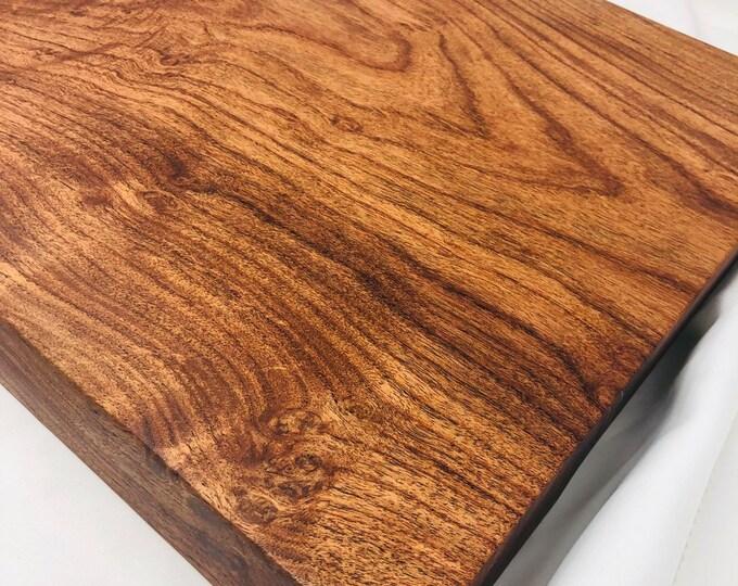 Rustic Handcrafted Face Grain Mesquite cutting board butchers block 190912