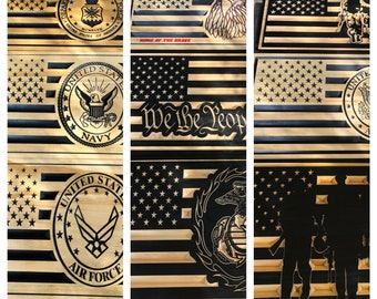 Custom Made US flag with insignia