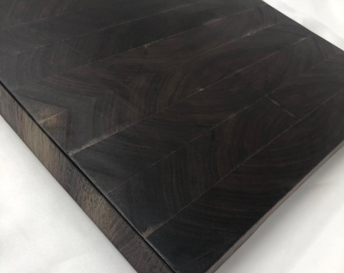 Excellent Thick End Grain custom handcrafted  Black Walnut cutting board chopping block 190917