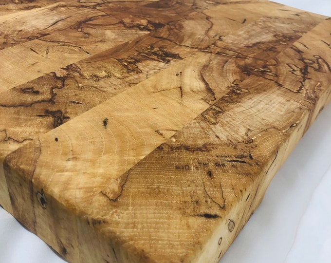 Incredible Handcrafted End-grain Texas Splated Pecan cutting board butchers block 190907