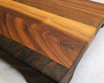 Lovely Walnut Extra Thick handcrafted cutting board or cheeseboard set 1903118