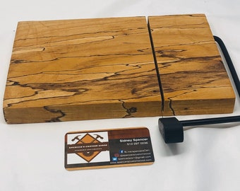 Rustic One Of A Kind Handcrafted Face-Grain Spalted Pecan Cheeseboard 191013