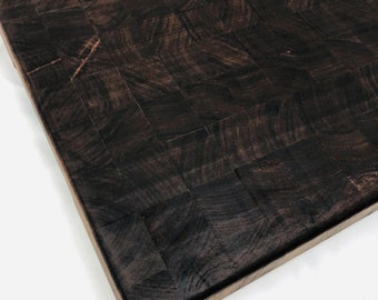 Extra Large Thick End Grain custom handcrafted Black Walnut cutting board chopping block 1908027