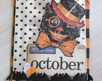 Mixed Media Halloween Keepsake Tag with Vintage Ephemera