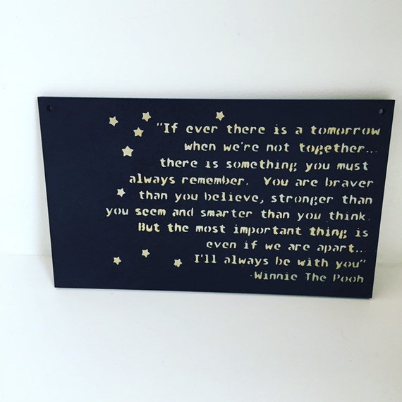 Rustic shabby /& chic plaque winnie pooh quote 100 years large plaque sign gift