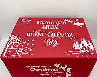Large Advent Calendar Christmas Box lidded box