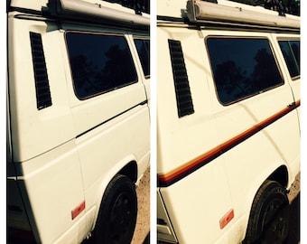 Custom Vinyl Vanagon Stripe Coated Laminated Weather Resistant