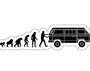 Vanagon Evolution Die Cut Vinyl Sticker Westfalia Pop Top Down
