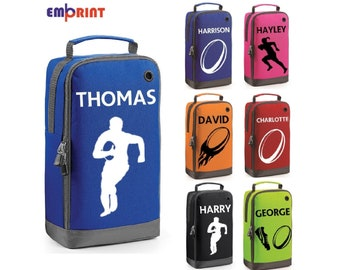 e68778f6e53 Personalised Rugby Boot Bag Customised Kids School PE Sports Gym Shoe Kit