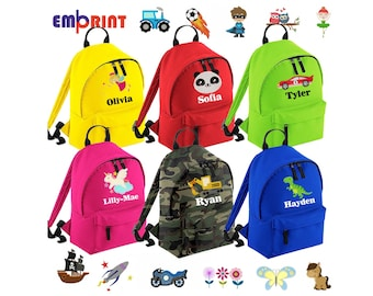 Star Liberty personalized embroidered child backpack