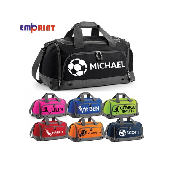 Personalised Football Holdall Customised Kids School PE Sports Gym Shoe Kit Bag