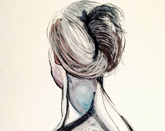 Female Figure Landscape Print 2