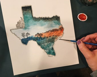 0ab69680 Texas print | Etsy