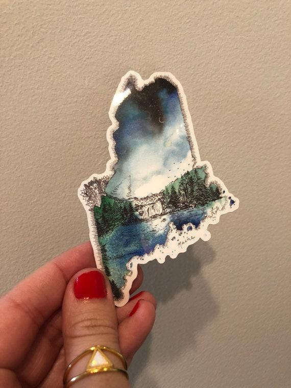 Maine Vinyl Sticker