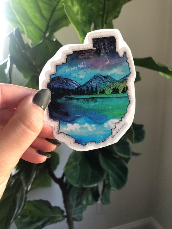 Adirondack State Park watercolor vinyl decal