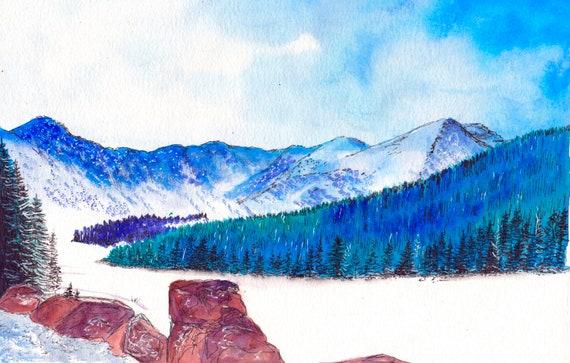 Colorado Watercolor Print