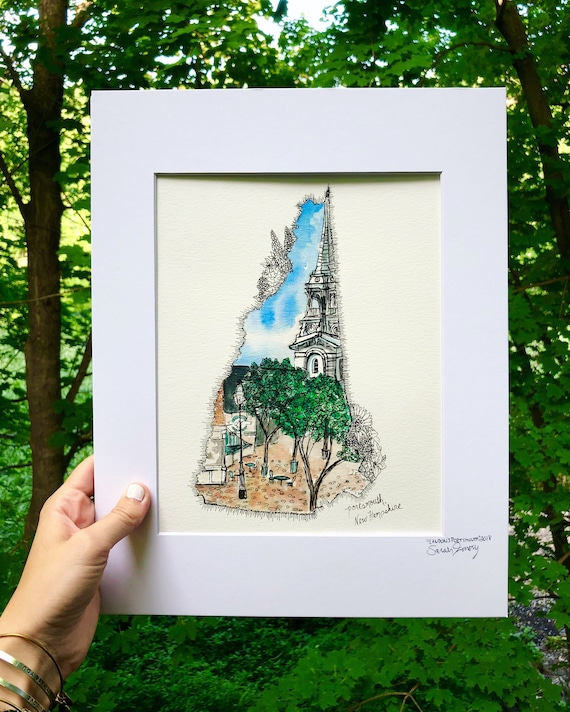 Portsmouth, New Hampshire watercolor print