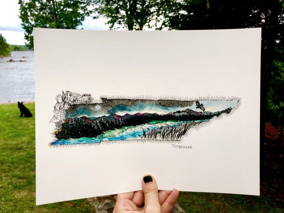 Tennessee watercolor print