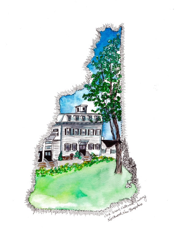 Coe-Brown Northwood Academy Watercolor Print
