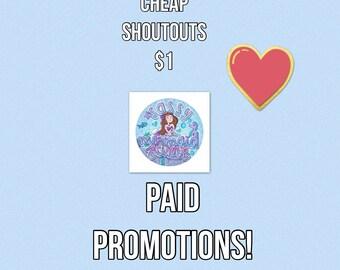 Paid promotion (read description)