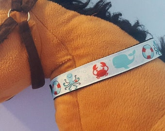 Sea Creatures dog collar with free shipping!