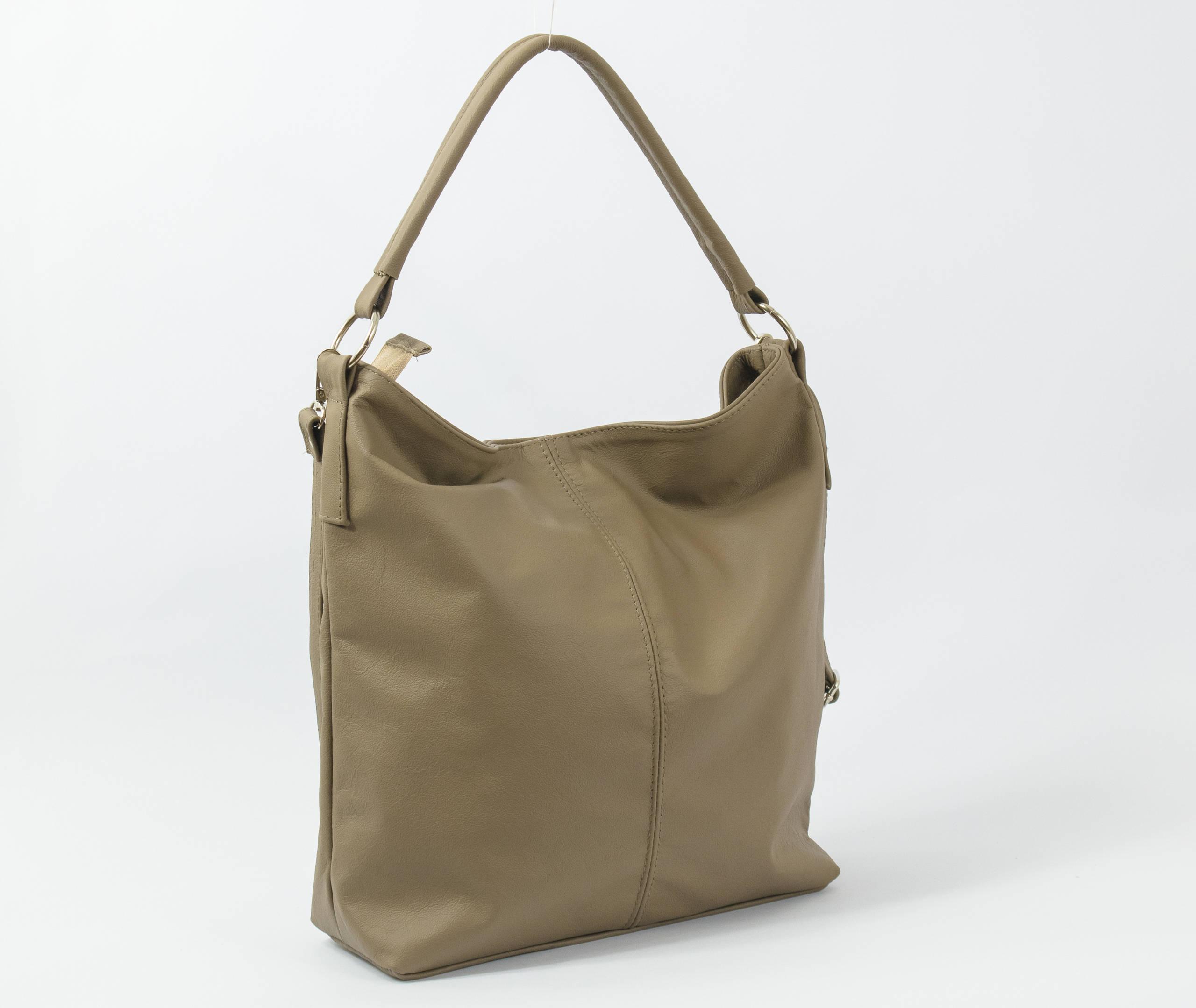 LEATHER HOBO BAG Coffee Leather Handbag Everyday Tote Bag  f814e4d36c613