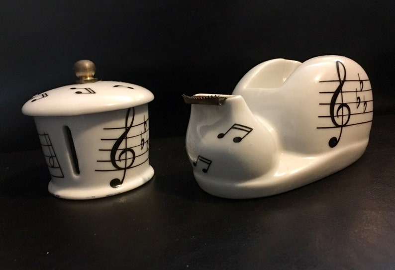 Vintage House Of Prill Porcelain Music Note Tape