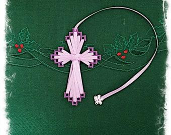 Cross Bookmark (Purple/Lt. Purple)