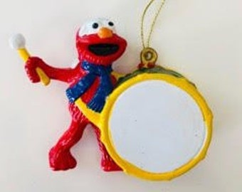 drummer elmo christmas ornament personalized name ornament