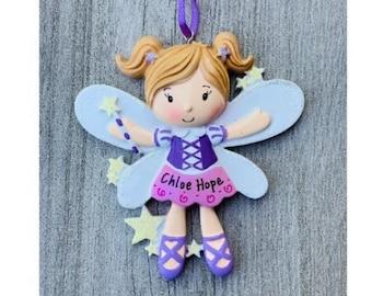 Fairy Ornament | Girl Fairy Ornament | Christmas Fairy | Fairy Gift | Personalized Christmas Ornament | Toddler Girl | Magical Fairy