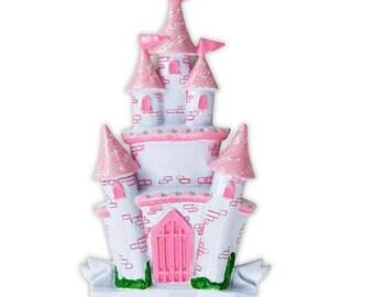 Princess Castle  Ornament  Pink Princess Castle  Castle Ornament  Personalized Christmas Ornament