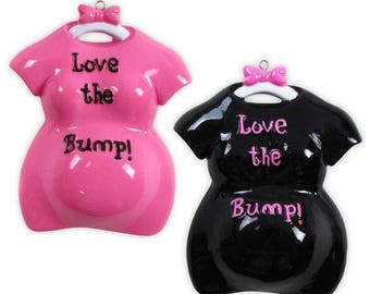 Pregnant  Ornament Excepting  Ornament  Mom to Be Love  The Bump Personalized Christmas Ornament