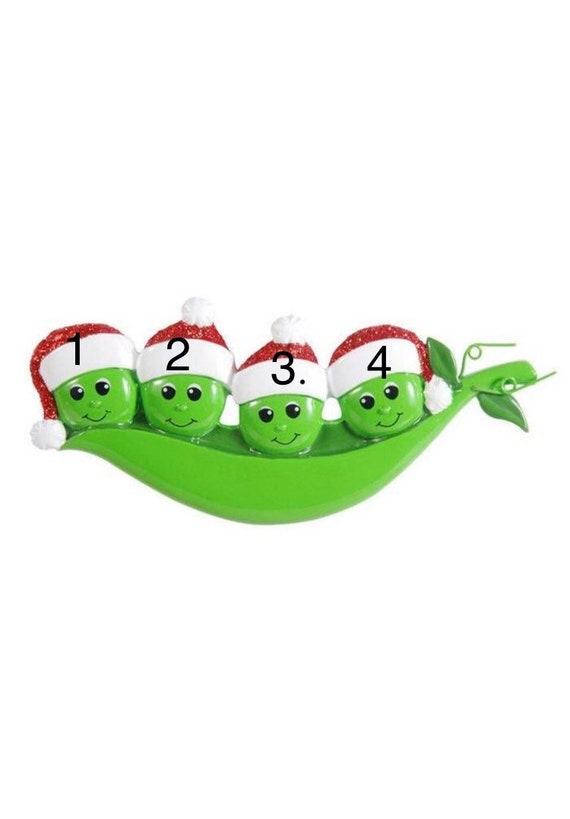 Christmas Gifts For Roommates.Four Peas In The Pod Christmas Ornament Gifts For Roommates Family Of Four Christmas Ornament