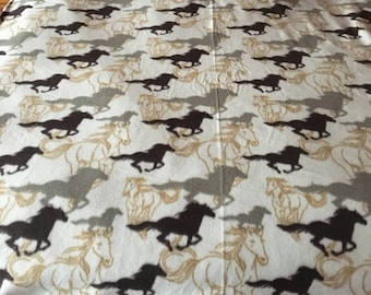 Twin Horse Fleece Blanket