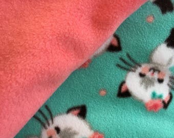 Twin Kitten Fleece Blanket