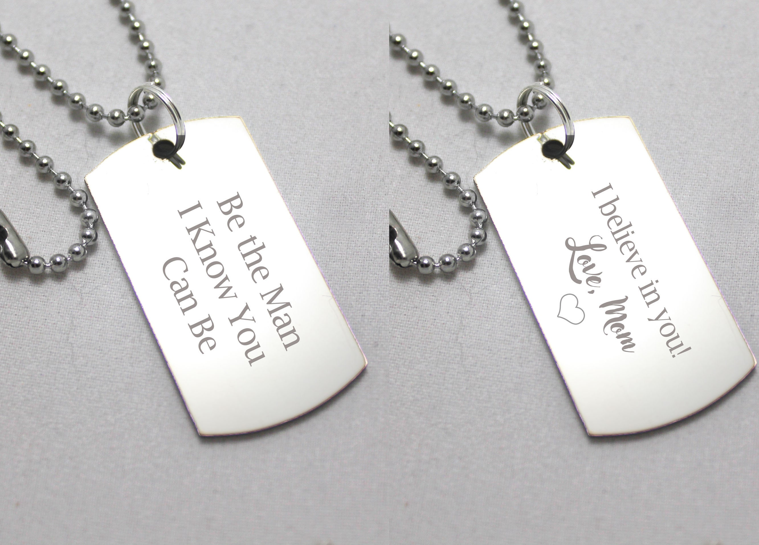 Custom Photo Loved One Memorial Dog Tag Necklace Key Chain Personalized Jewelry