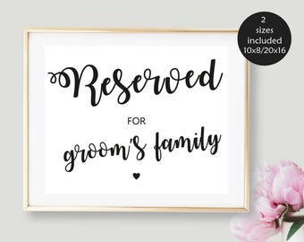 reserved signs etsy