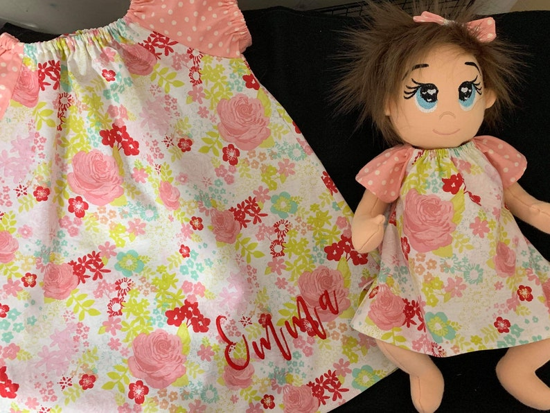 5x7 and 6x10 Itty Bitty Dress PATTERN for Planet Applique Dolls