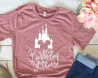 Disney Birthday Girl Shirt DIsney Tee Vacation Trip