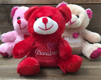 plush teddy bears - teddy bears - personalized teddy bear - valentine teddy bears - Valentine's Day gifts - gifts for kids - gifts for her