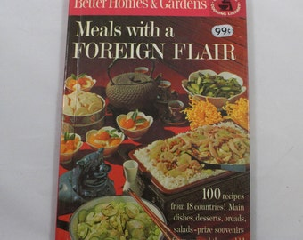 Meals with a Foreign Flair, Better Homes & Gardens HC 1963